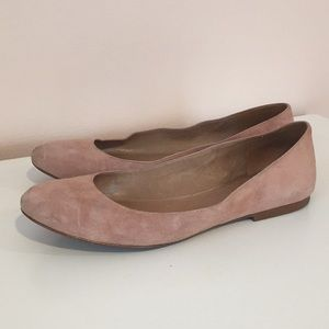 Madewell pink suede flats size 8